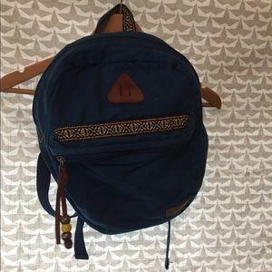 Blue Aztec backpack